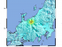 (Japan), 22/11/2014.- A shakemap released by the U.S. Geological Survey (USGS) on 22 November 2014 with a yellow star indicates the site of an earthquake in Eastern Honshu, Japan, at 10:08 pm local time (13:08:18 UTC) on 22 November 2014. Media reports state that a magnitude 6.8 earthquake struck central Japan 22 November evening, the Meteorological Agency in Tokyo said. No tsunami warning was issued and there were no immediate reports of deaths, injuries or damage. (Terremoto/sismo, Japón, Tokio) EFE/EPA/USGS /