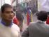 Foto de pantalla de video en el que aparece Rafael Correa durante las protestas de abril del 2005, en contra del Lucio Guitiérrez.