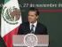 Mensaje a la Nación, 27 de noviembre de 2014: Por un México en Paz con Justicia, Unidad y Desarrollo. Enrique Peña Nieto. Foto: Presidencia México.