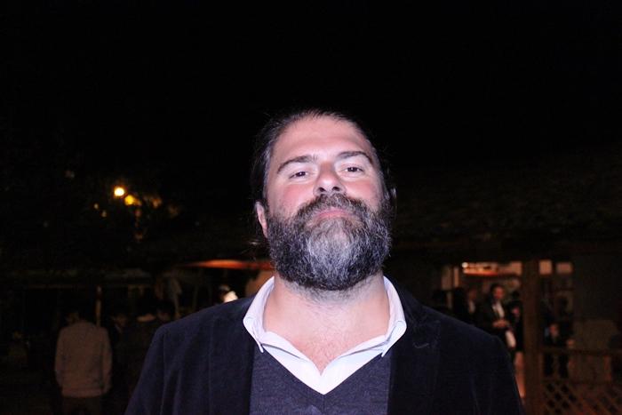 El cineasta Sebastián Cordero en la fiesta en la Quinta Lucrecia.