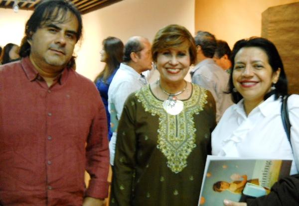 Servio Zapata, Rosa Amelia Alvarado y Lola Márquez.