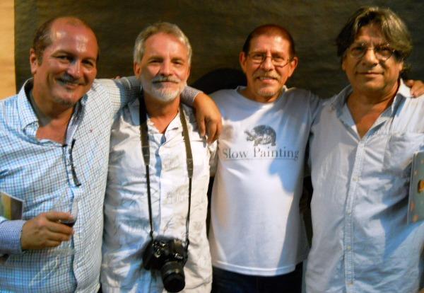 Pedro Dávila, Fabián Peñaherrera, Jorge Velarde y Joaquín Serrano.