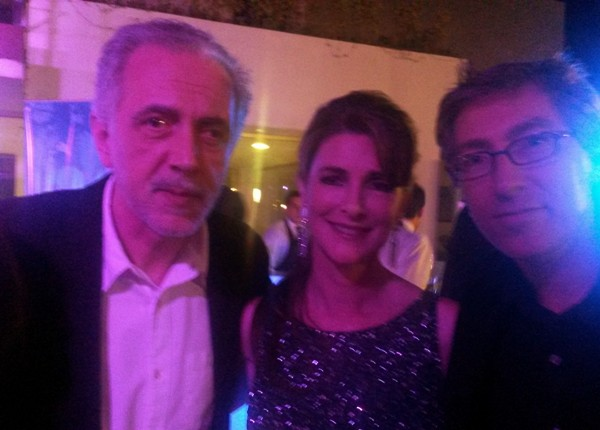 Fernando Trueba, Daniela Creamer y David Trueba.