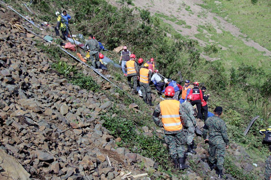 Accidente en la vía Aloag-Santo Domingo, el 8 de noviembre de 2014. API