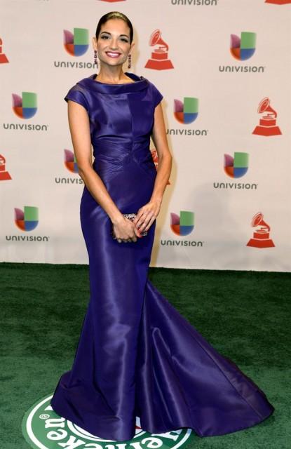 La cantante española Natalia Jiménez posa a su llegada a los Grammy Latino en Las Vegas (Estados Unidos) ayer, jueves 20 de noviembre de 2014. EFE/Mike Nelson