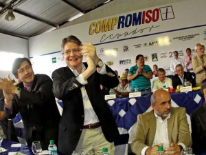 El ex candidato presidencial Guillermo Lasso, en Quito, el 20 de noviembre de 2014. API/Juan Cevallos