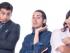 """(De izquierda a derecha) Los actores Efraín Ruales, Víctor Arauz y Martín Calle en sus personajes de """"Macho que se respeta""""."""