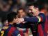 Messi festeja el cuarto gol de su equipo durante el encuentro con el Apoel de Chipre por la Liga de Campeones. PETROS KARADJIAS AP PHOTO.