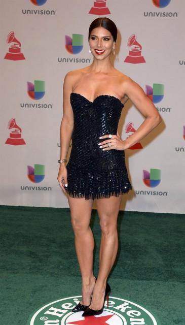 La cantante y compositora portorriqueña Roselyn Sanchez posa a su llegada a la gala de Los Grammy Latino en Las Vegas (Estados Unidos) ayer, jueves 20 de noviembre de 2014. EFE/Paul Buck