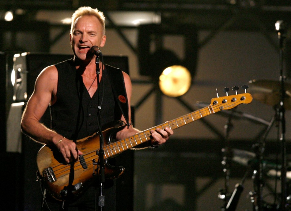 Sting en la premiación 49 de los premios Grammy, (Photo by Kevin Winter/Getty Images)