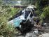 Bus de la cooperativa Unidos, accidentado hoy en Morona. Foto de Javier Cárdenas.