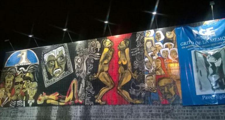 el mural gritos de la memoria cuyo autor es pavel egez fue develado anoche en la fiscala general del estado foto de el ciudadano