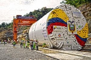 Proyecto hidroeléctrico Coca Codo Sinclair. Foto de Archivo. Ministerio de Electricidad y Energía Renovable.