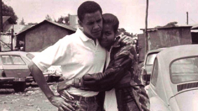 Barack y Michell.