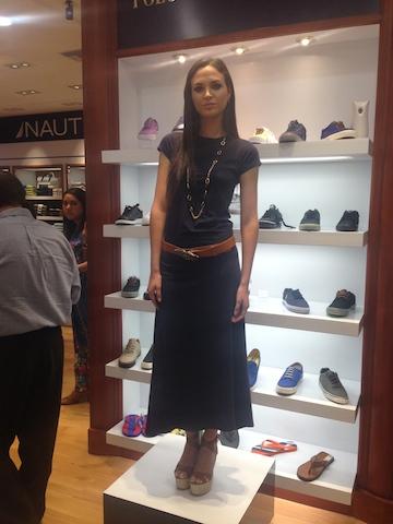 Una modelo mostrando uno de los diseños de la nueva colección de Polo Women. Foto: Gabriela Icaza/LaRepública