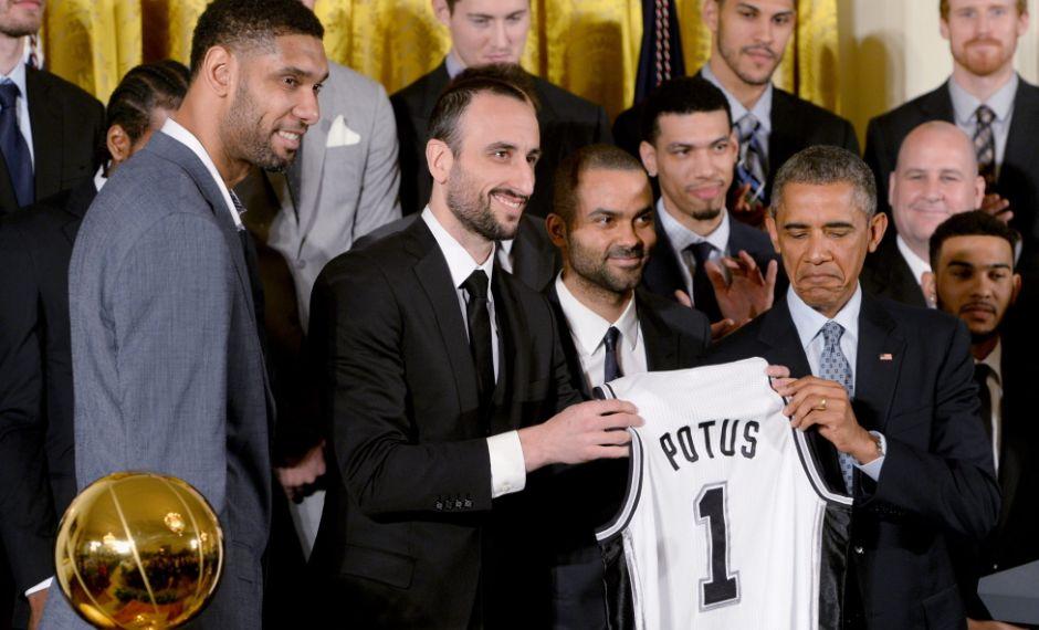 Obama y Spurs.