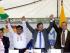 Autoridades de Azuay, Morona Santiago y Cañar luego de solucionar conflictos limítrofes. Foto cortesía de la Prefectura del Azuay.