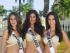 MIAMI (ESTADOS UNIDOS) 07/01/2015.- Fotografía facilitada por la organización del concurso de belleza Miss Universo que muestra a Miss Guatemala 2014, Ana Montufar Urrutia (izq); Miss Holanda 2014, Yasmin Verheijen (c), y Miss Costa Rica 2014, Karina Ramos, mientras posan en traje de baño en Miami, Florida (Estados Unidos) el 7 de enero de 2015. La ganadora de la 63ª edición del certamen de belleza Miss Universo se decidirá en Miami el próximo 25 de enero. EFE/Organización De Miss Universo FOTO CEDIDA