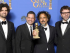 Beverly Hills (United States), 12/01/2015.- Mexican director Alejandro Gonzalez Inarritu (2-R) poses in the press room with the award for Best Screenplay - Motion Picture for 'Birdman' at the 72 Annual Golden Globe Awards at the Beverly Hilton Hotel, in Beverly Hills, California, USA, 11 January 2015. (Estados Unidos) EFE/EPA/PAUL BUCK