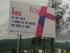 Vallas de campaña contra el feminicidio, iniciativa de la concejala Carla Cevallos. Foto de la página de Facebook de José Hernán Suárez.
