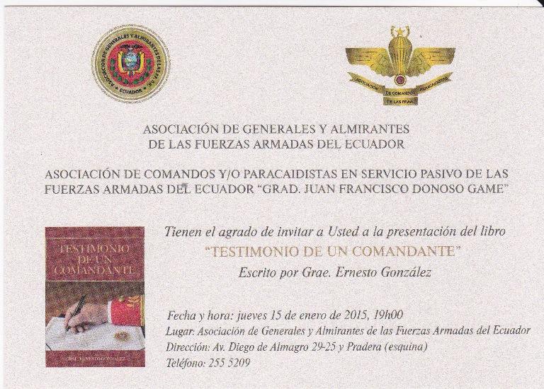 Invitación libro Ernesto González