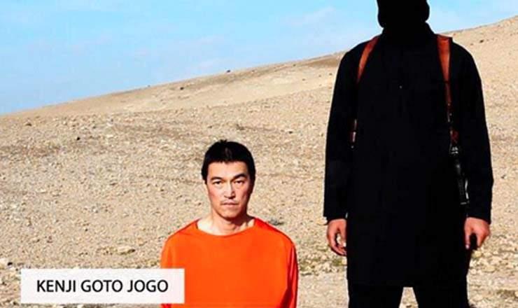 Kenji Goto, foto cedida por el Estado Islámico.