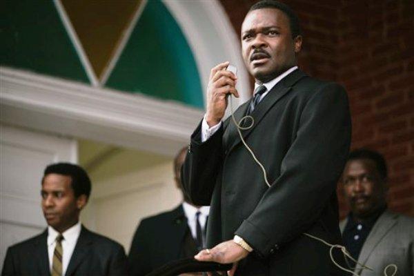 """En esta imagen difundida por Paramount Pictures, David Oyelowo encarna al doctor Martin Luther King Jr. en una escena de """"Selma"""". (AP Foto/Paramount Pictures, Atsushi Nishijima)"""
