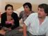 Ana Paula Chalela con sus familiares. Foto: Ministerio del Interior
