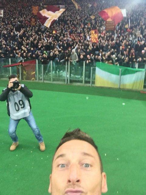 La selfie de Totti.