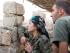 Nari Afrin, comandante de la resistencia kurda contra el Estado Islámico.
