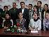Bancada de Alianza País anunciando la reducción de sus salarios. Foto de Asamblea Nacional.