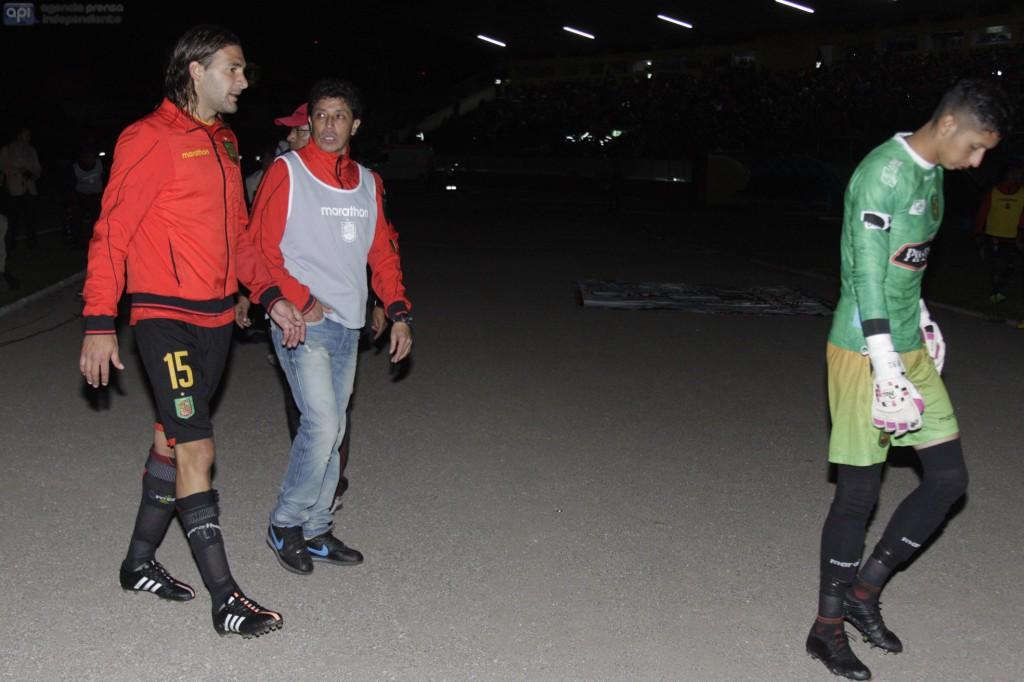Cuenca 6 de febrero del 2015 En el estadio Alejandro Serrano Aguilar se juega el partido entre el D.Cuenca y la U.Catolica por la 2da fecha del campeonato nacional de futbol, luego de un apagón de una hora.