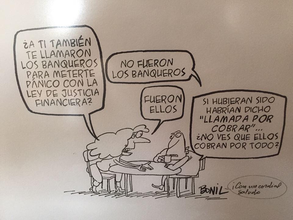 Caricatura de Bonil, enmarcada en la casa de Guillermo Lasso. Foto La República.