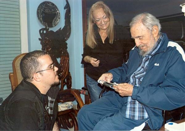Randy Perdomo, Dalia Soto y Fidel Castro. Foto: Granma