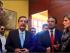 Los alcaldes de Quito y Guayaquil, Mauricio Rodas y Jaime Nebot, en Cuenca, con el Prefecto de Azuay, Paul Carrasco, acompañados de la vicealcaldesa de Guayaquil, Doménica Tabacchi. Foto tuiteada por Carrasco.