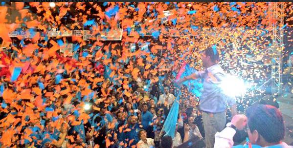 Convención del partido SUMA, el 21 de febrero de 2015. Foto tuiteada desde la cuenta de Mauricio Rodas.