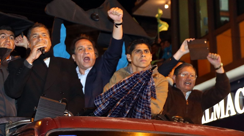 El Presidente Correa, en Riobamba, el 19 de marzo de 2015. Foto: Santiago Armas / Presidencia de la República