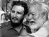 Fidel Castro junto a Ernest Hemingway. Foto de Archivo, La República.