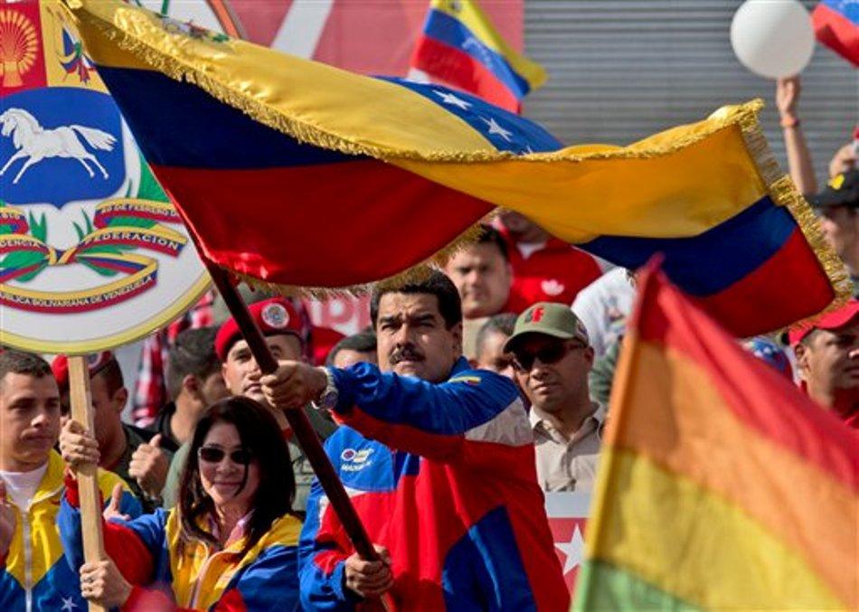 Maduro con bandera