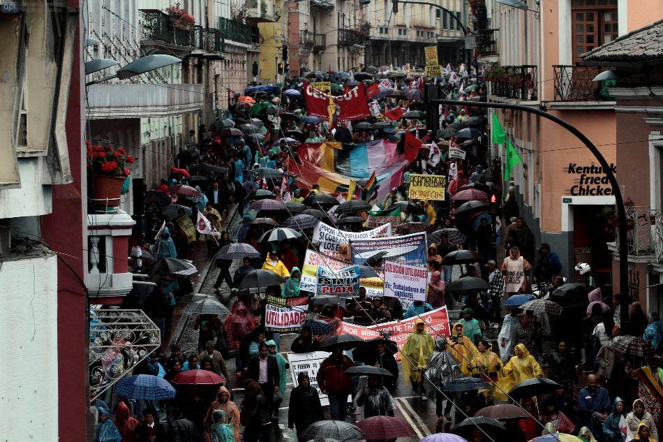 Protestas contra el gobierno, el 19 de marzo de 2015. API
