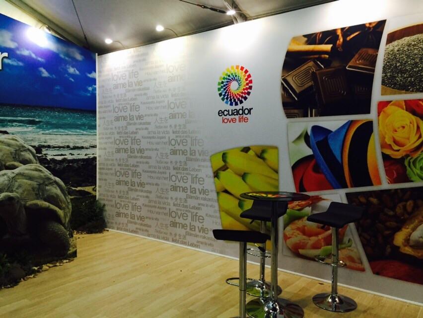 Foto del stand de Ecuador en el Miami Open. Foto: Pro Ecuador