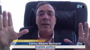 Carlos Alberto Montaner en entrevista con Jorge Ortiz. Foto de La República.EC