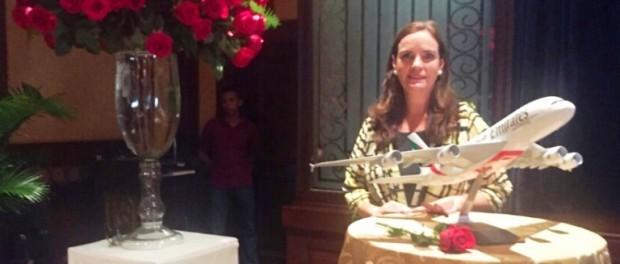Rossana Peré, gerente de Emirates. Foto: La república.ec