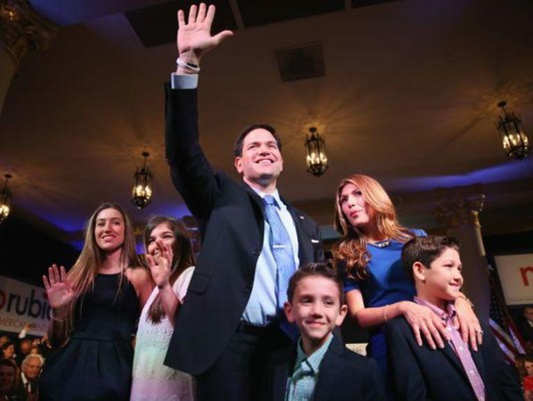 Marco Rubio y su familia Foto: gannett-cdn.com