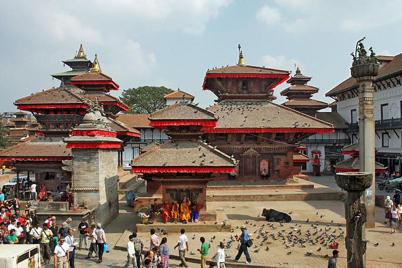 La Plaza Durbar, en Katmandú, Nepal, antes del tereremoto del 25 de marzo de 2015.