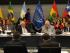 Conferencia 'Justicia Transicional y la Paz en Colombia' en la sede de la Unasur, en Quito. Foto: Fiscalía de Ecuador