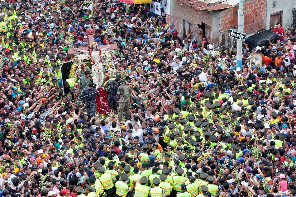 Procesión del Cristo del Consuelo, en Guayaquil, el 3 de marzo de 2015.