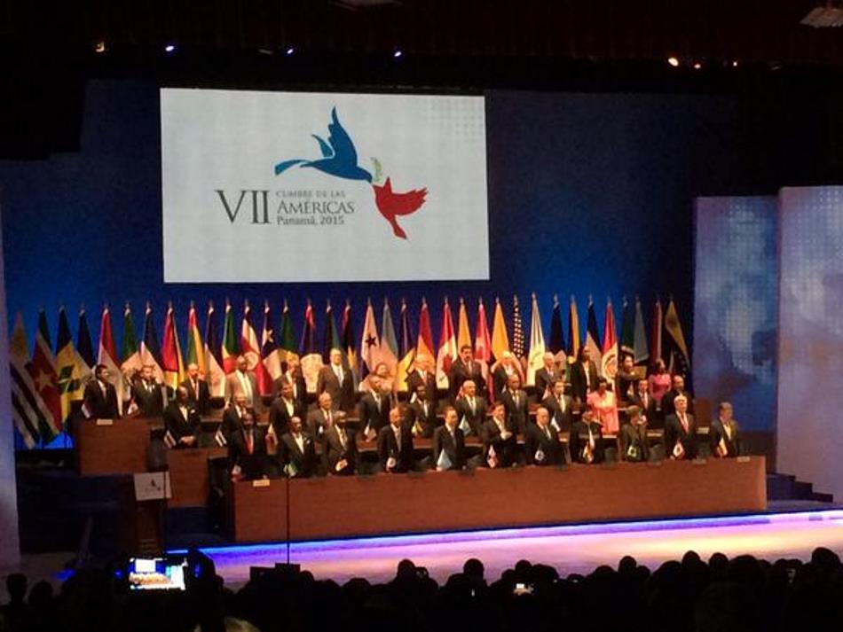 Los presidentes de América reunidos en la cita parlamentaria.