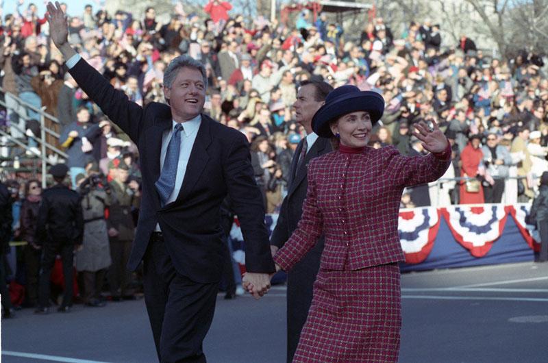 El entonces presidente Bill Clinton y su mujer, Hillary, en una foto de 1993.