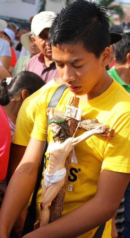 Procesión del Cristo del Consuelo, en Guayaquil, el 3 de marzo de 2015. API